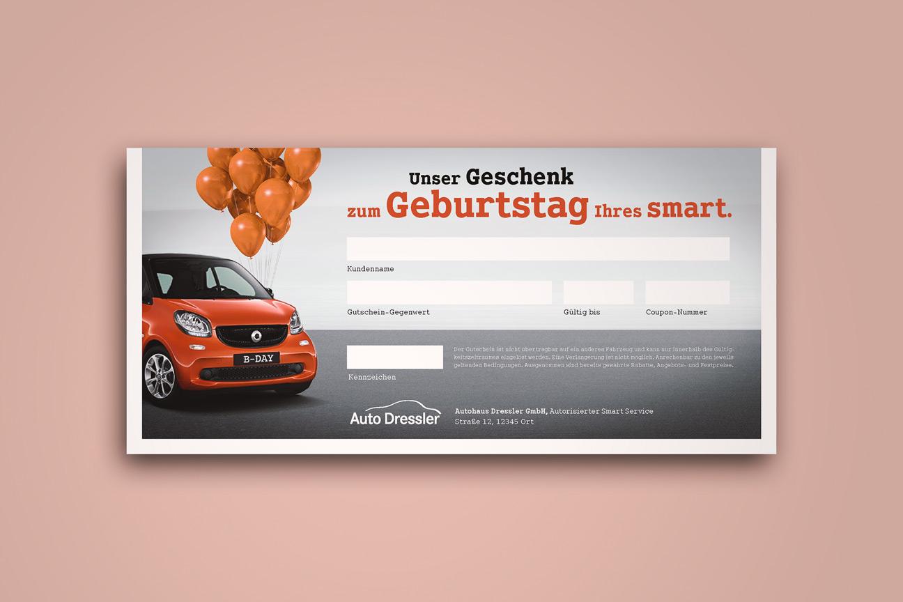 Fahrzeug-Geburtstag smart